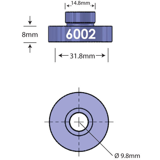 6002 Open Bore Adapter