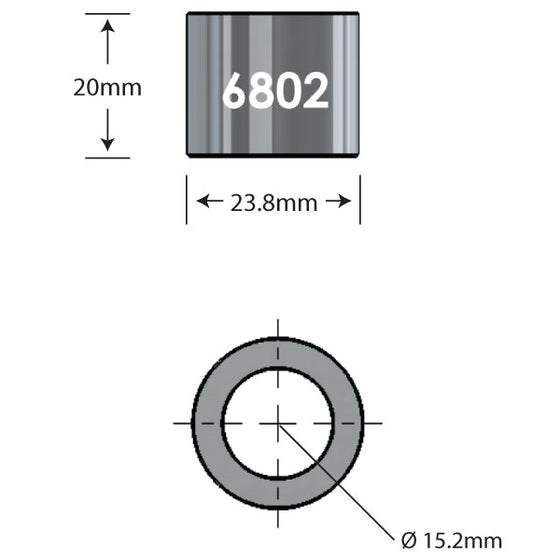6802 x 20mm Over Axle Adapter