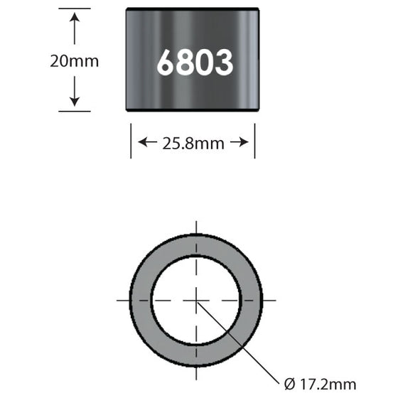 6803 x 20mm Over Axle Adapter