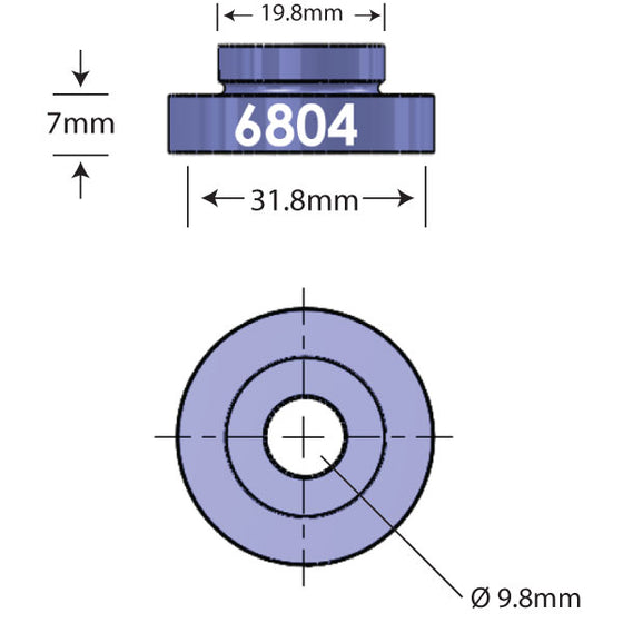 6804 Open Bore Adapter