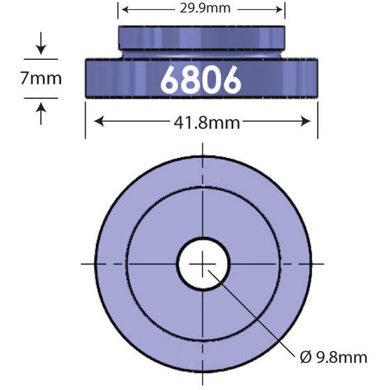 6806 Open Bore Adapter