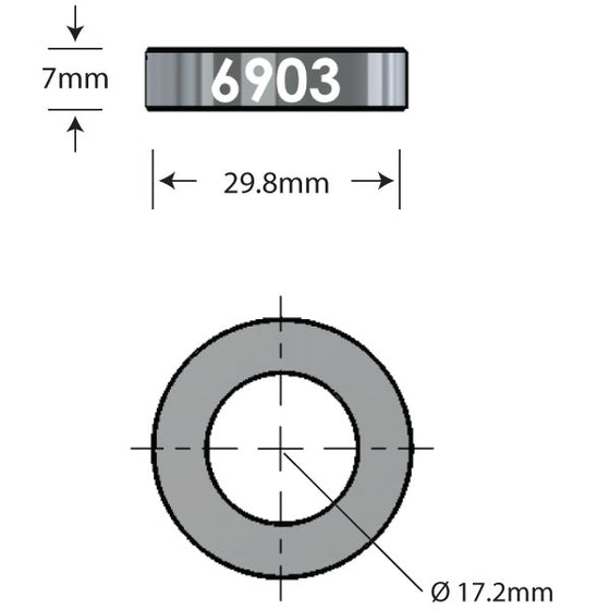 6903 x 7mm   Over Axle Adapter