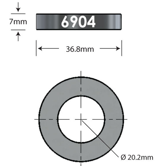 6904 x 7mm Over Axle Adapter