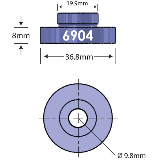 6904 Open Bore Adapter