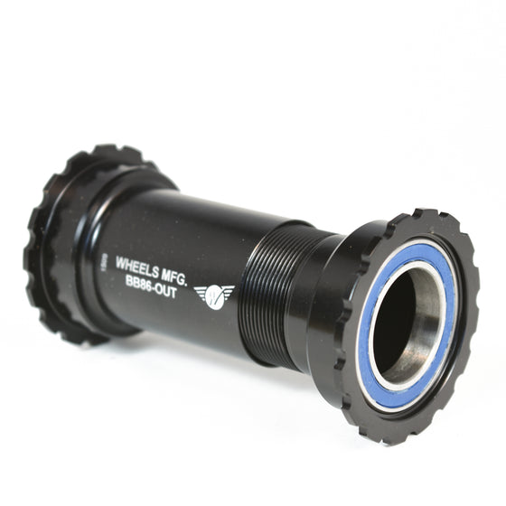 Black - Shimano Compatible, PressFit 86/92 Bottom Bracket - Threaded