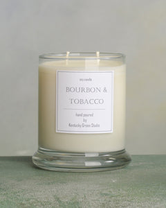 Bourbon & Tobacco Soy Candles made in Lexington, Kentucky (KY)