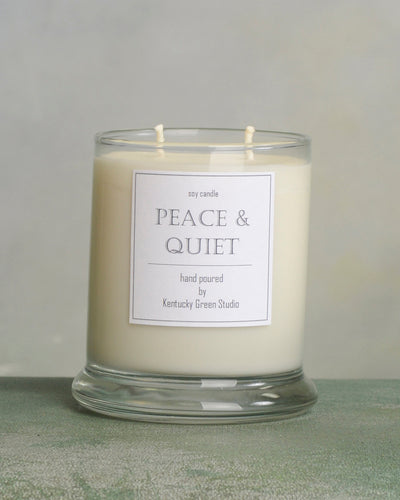 Peace & Quiet Soy Candles made in Lexington, Kentucky (KY)