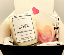 Valentines Day Gift Set--Candle and Soap