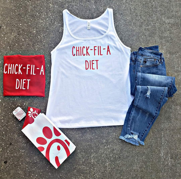 Chick-Fil-A White Tank
