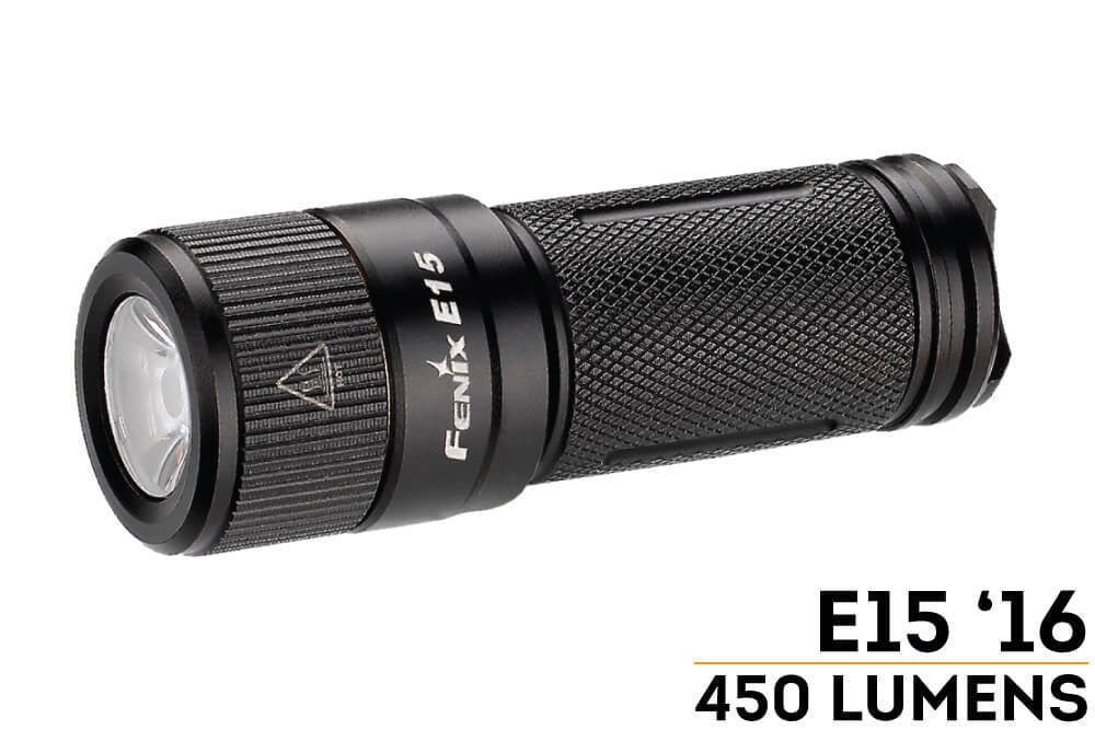 Fenix E15 2016 Edition Max 450 Lumens Flashlight - Trailside Outfitter