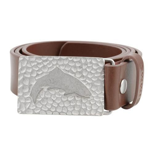 SIMMS Men's Big Sky Leather Belt - Brown