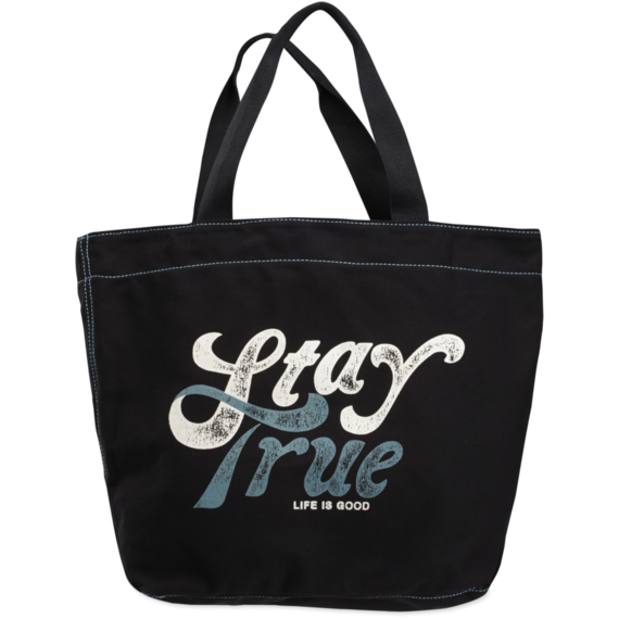 Women's Life is Good Marquee Tote Stay True Night Black