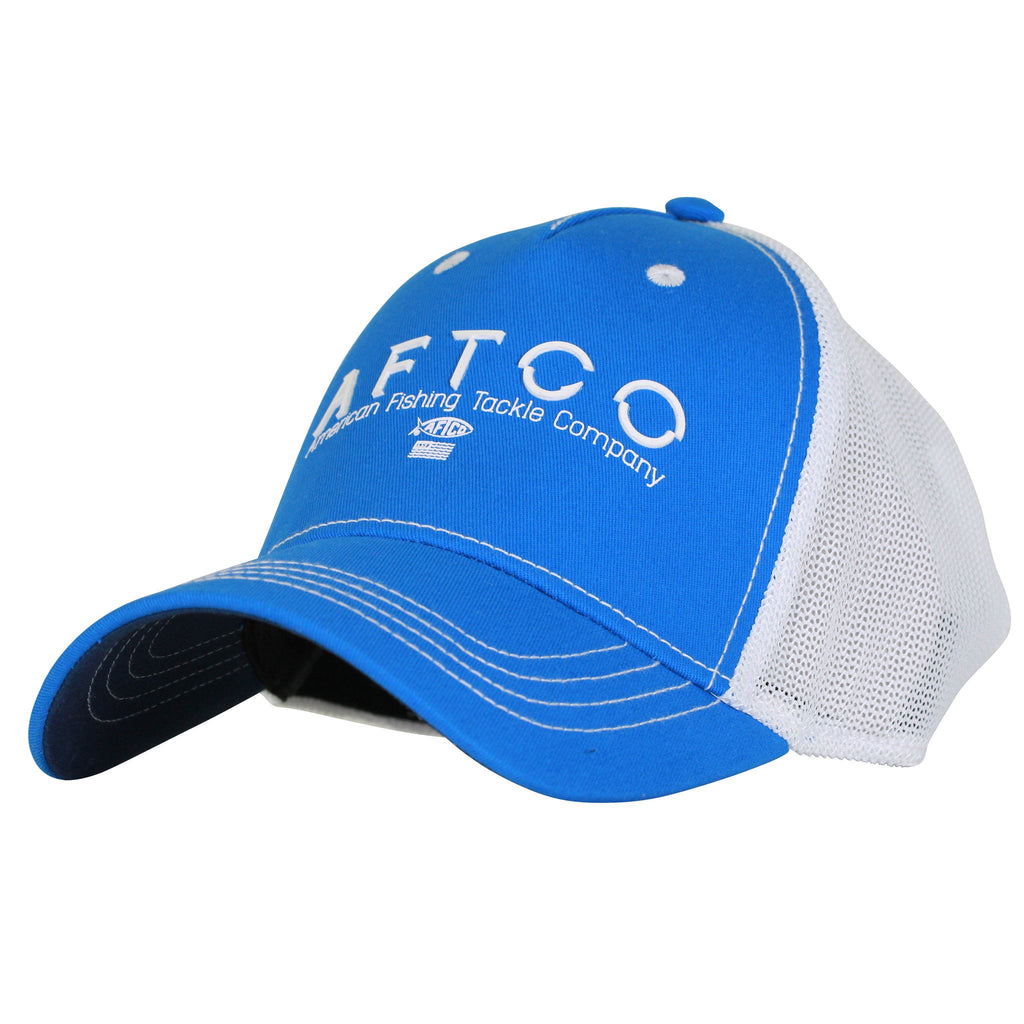AFTCO Spectre Fishing Trucker Hat Royal - Trailside Outfitter