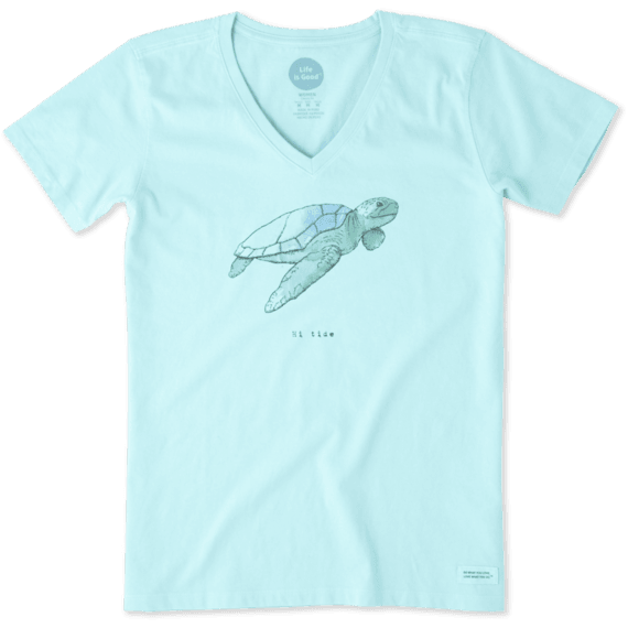 f2f211fb Women's Life is Good Crusher Vee Sea Turtle Frosted Blue – Trailside ...