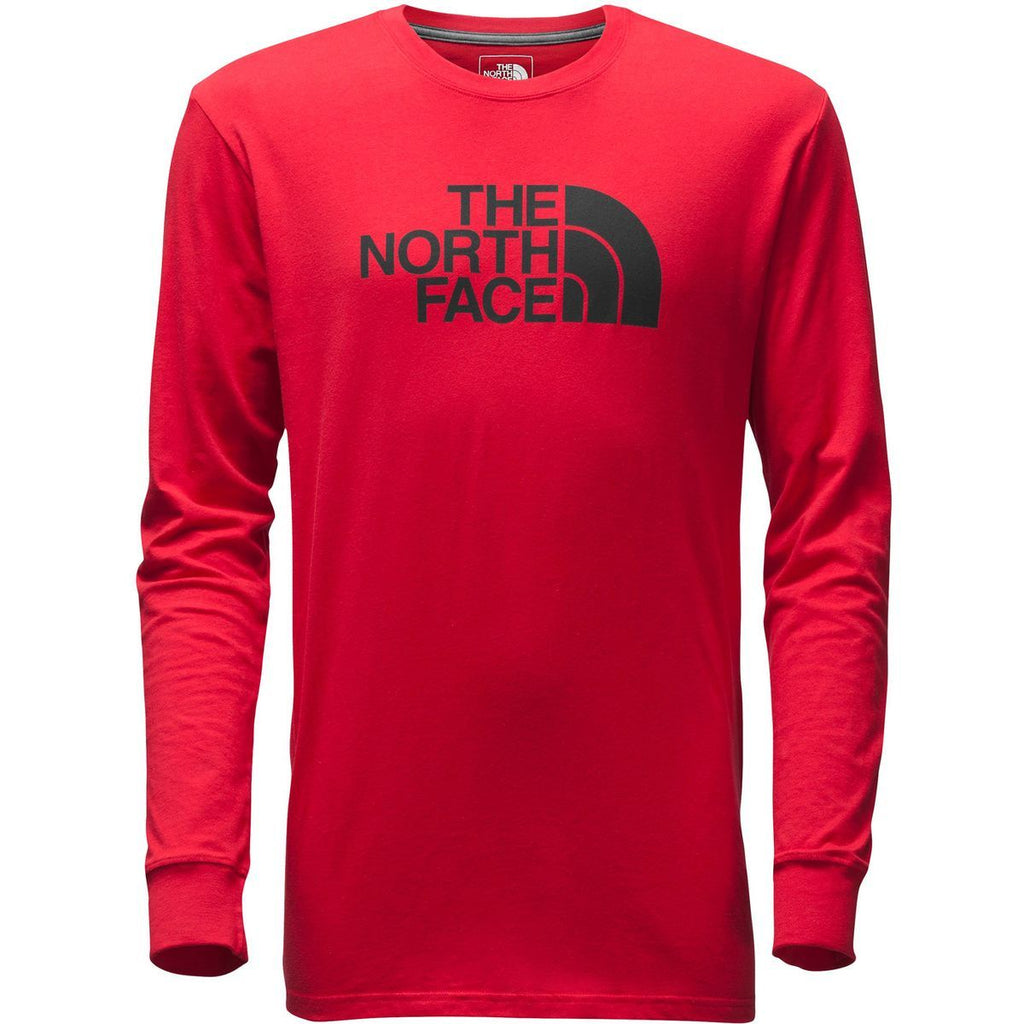 The North Face Men's Half Dome Long Sleeve Red Asphalt