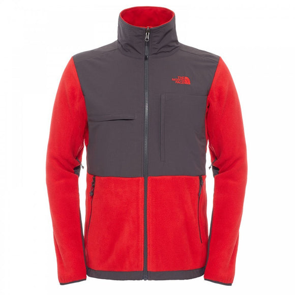 ON SALE - CLEARANCE The North Face Men's Denali Jacket Rage Red/Grey