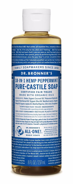 Dr. Bronner's Peppermint Pure-Castile Liquid Soap - Trailside Outfitter