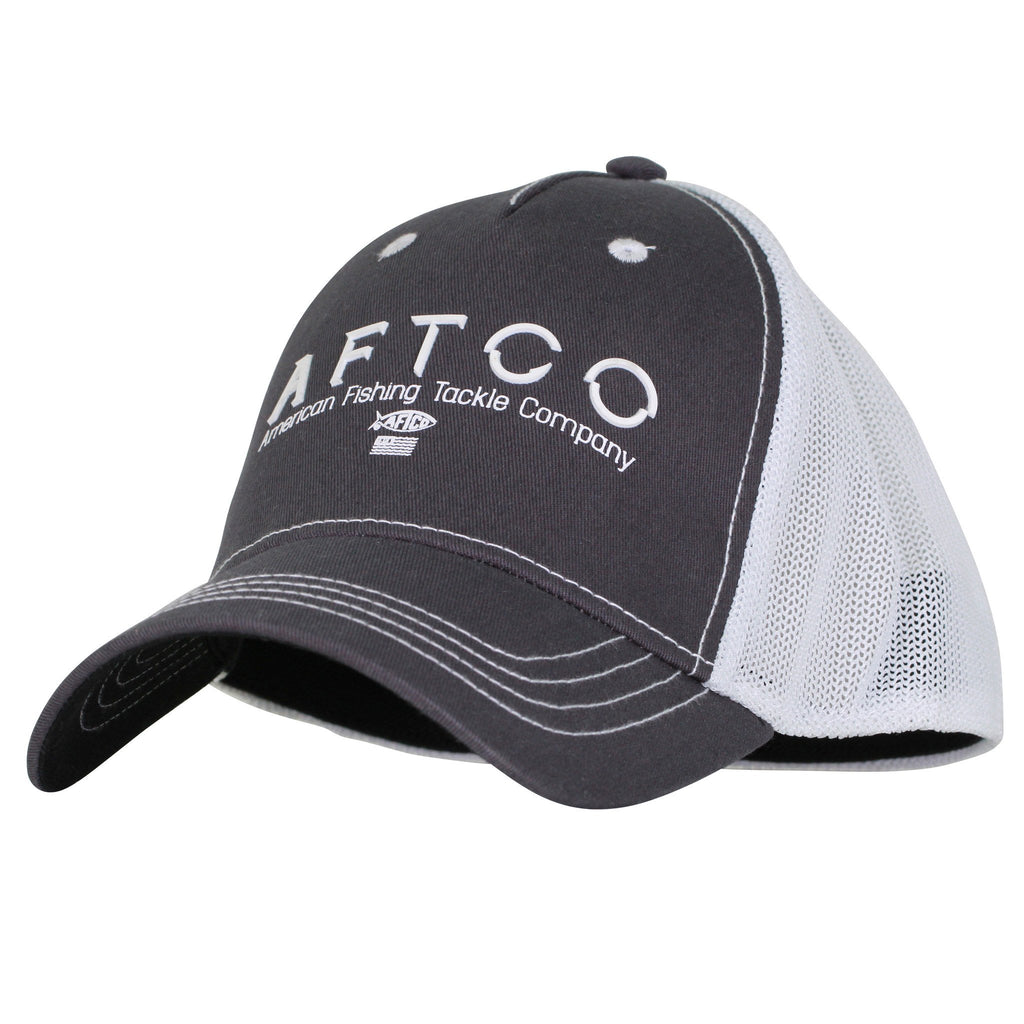AFTCO S[ectre Fishing Trucker Hat Charcoal