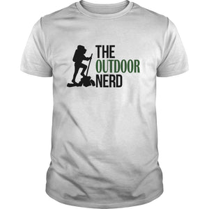 Hiking T Shirt, The Outdoor Nerd Logo - Trailside Outfitter