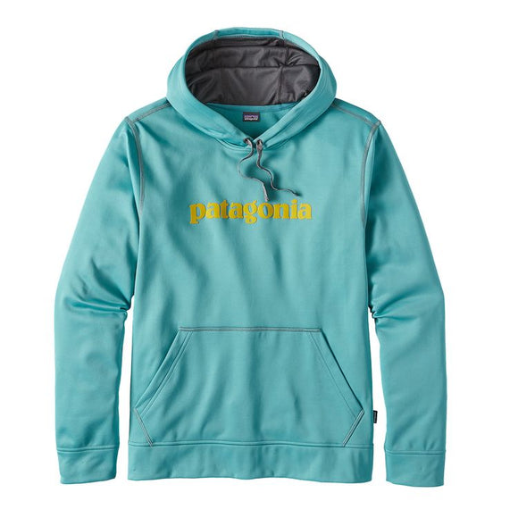 Patagonina Men's Text Logo PolyCycle Hoody