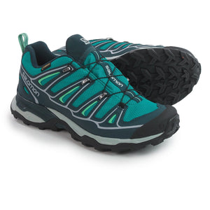 Salomon Women's X Ultra Pro 2 GTX Peacock Blue/Deep Blue/Lucite Green