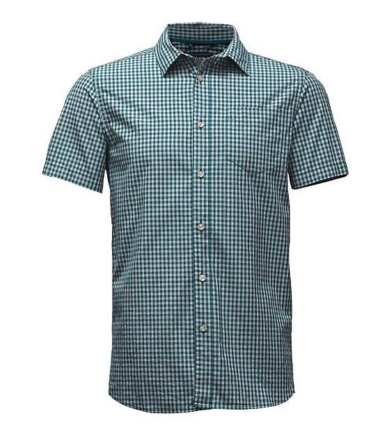 The North Face Men's Shadow Gingham ShIrt - Blue Coral