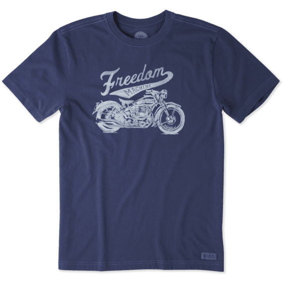Life Is Good Men's Freedom Machine Crusher Tee - Darkest Blue