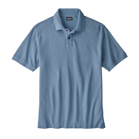 Patagonia Men's Belwe Pique Polo - Railroad Blue