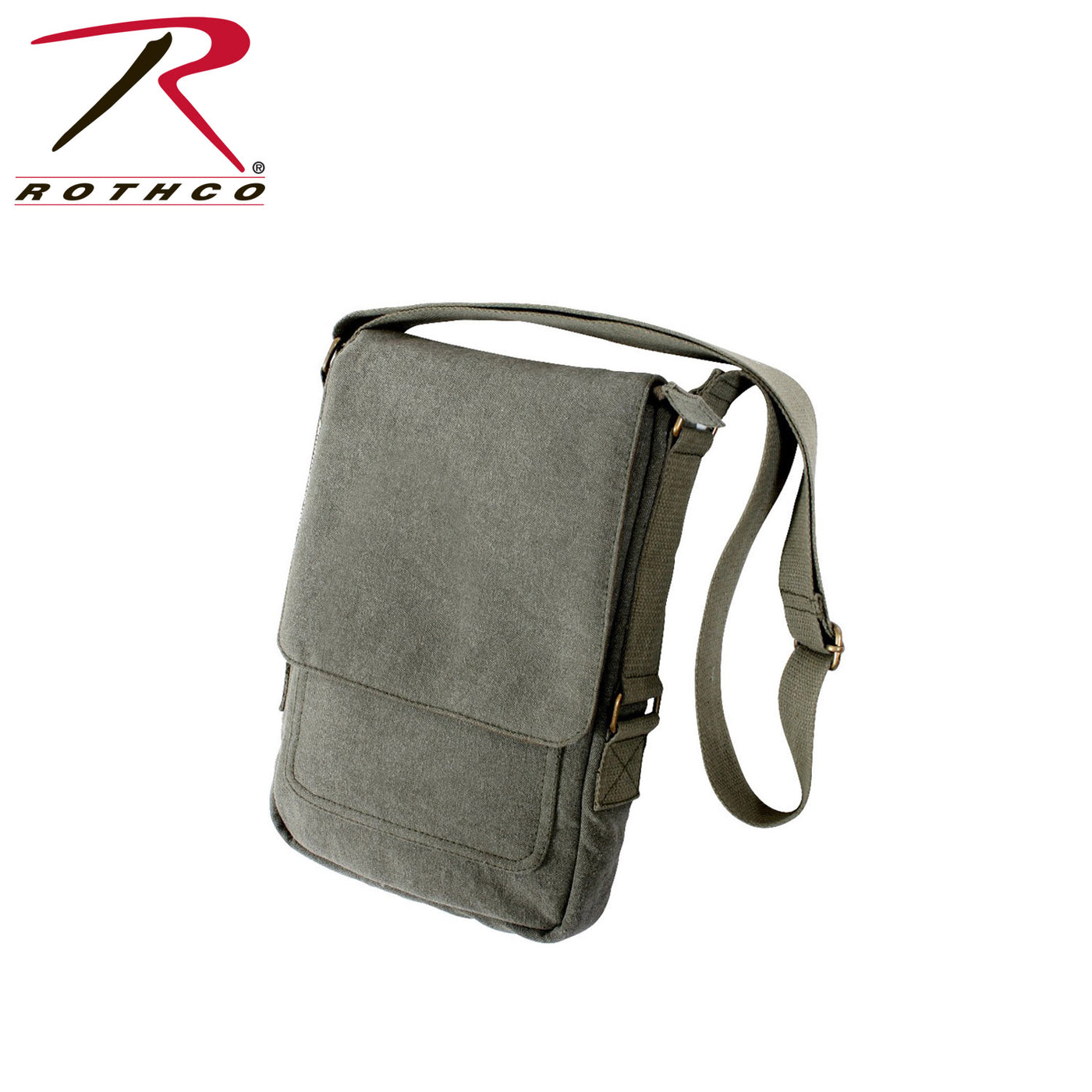 13aa3022ad1b Rothco Vintage Canvas Military Tech Bag Vintage Olive Drab – Trailside  Outfitter