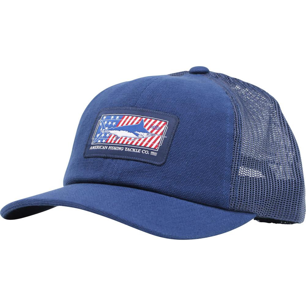 AFTCO Freedom Trucker Hat Navy - Trailside Outfitter
