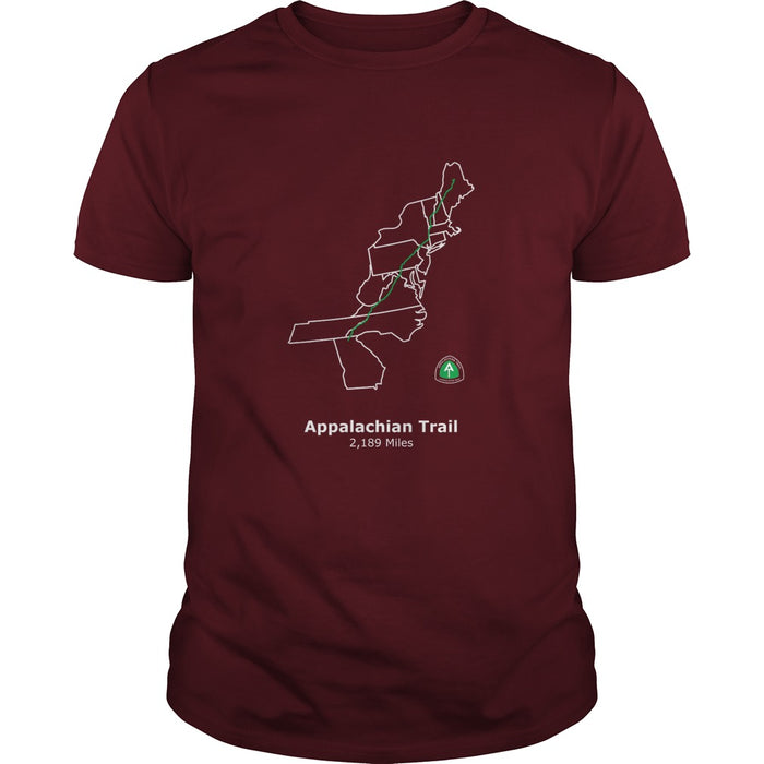 Appalachian Trail Map Men's T Shirt