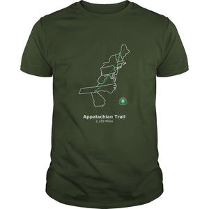 Appalachian Trail Map Men's T Shirt - Trailside Outfitter