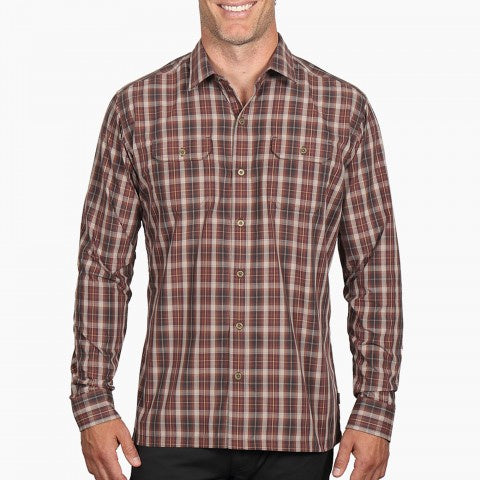 Kuhl Men's Response LS Shirt - Dark Rust
