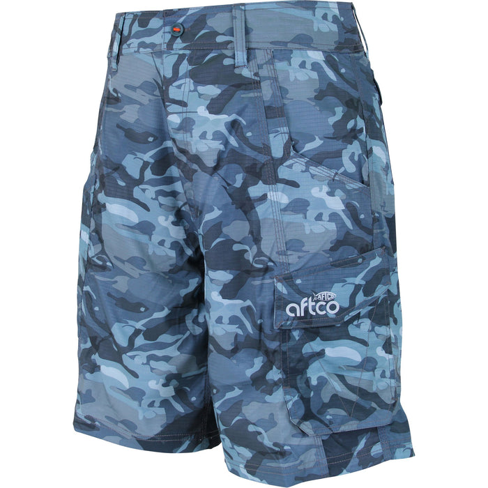 AFTCO Men's Tactical Fishing Shorts Blue Camo