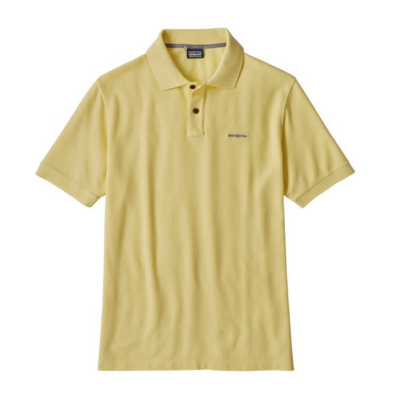 Patagonia Men's Belwe Pique Polo - Crest Yellow