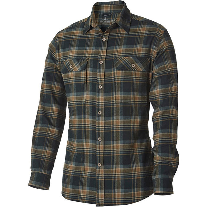 Royal Robbins Men's Valley Performance Plaid L/S Dark Spruce