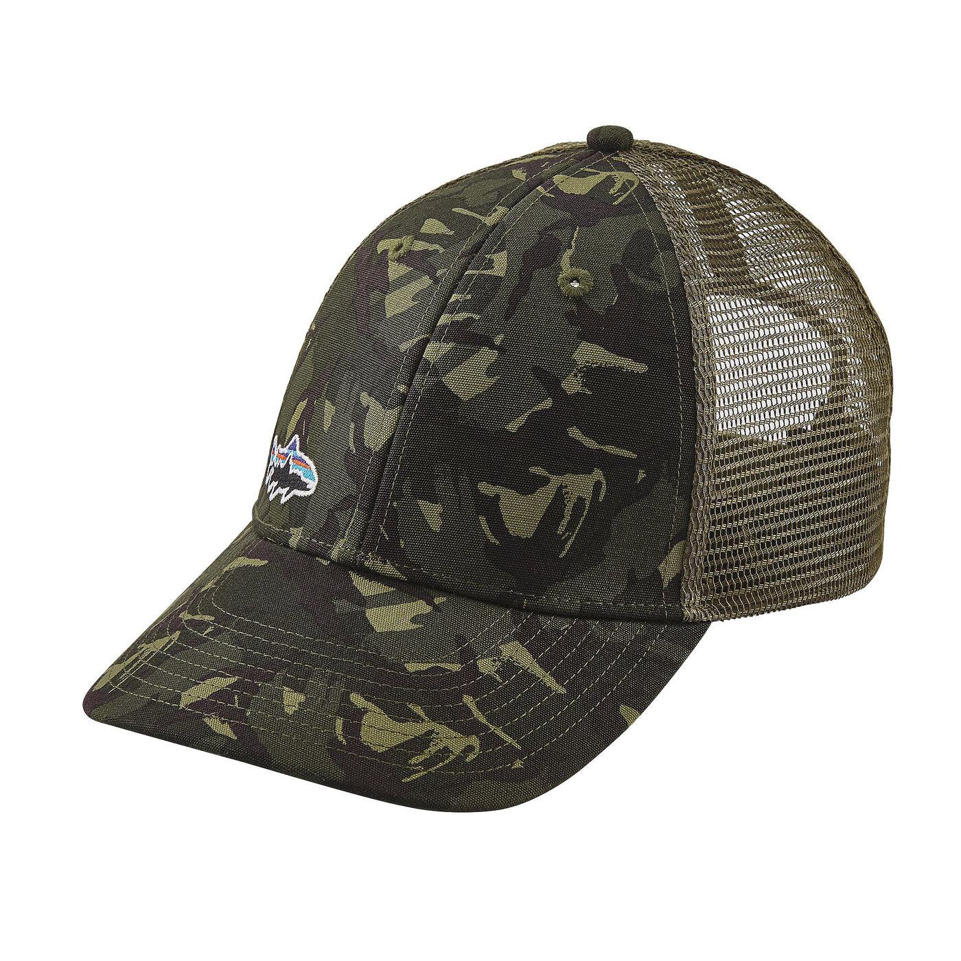 Patagonia Small Fitz Roy Trout LoPro Trucker Hat Camo – Trailside Outfitter eb8ece9c2ef