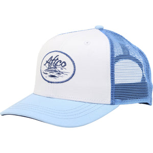 AFTCO Finner Trucker Hat Sky Blue