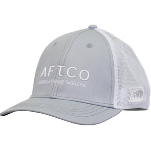 AFTCO Echo Trucker Hat Fitter Light Grey - Trailside Outfitter