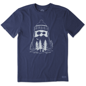 Life Is Good Men's Mountain Jake Crusher Tee - Darkest Blue