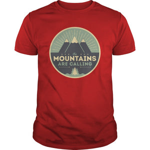 The Mountains are Calling Camping T Shirt