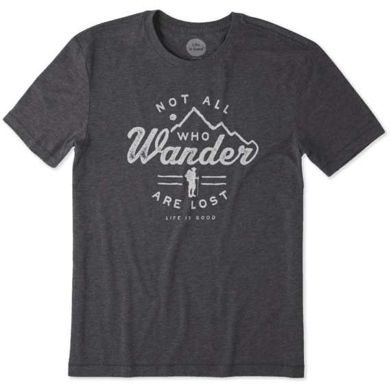 Life Is Good Men's Wander Hike Cool Tee - Nighe Black