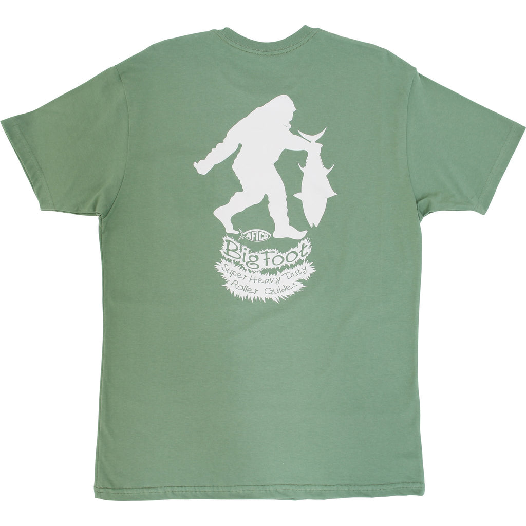 AFTCO Men's Bigfoot SS T Shirt Drab Olive - Trailside Outfitter