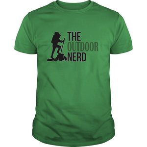Hiking T Shirt, The Outdoor Nerd Logo