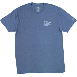 AFTCO Men's CHIPPER SS T Shirt Indigo Heather - Trailside Outfitter