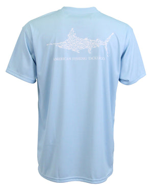 AFTCO Men's Jigfish SS Shirt Sky Blue