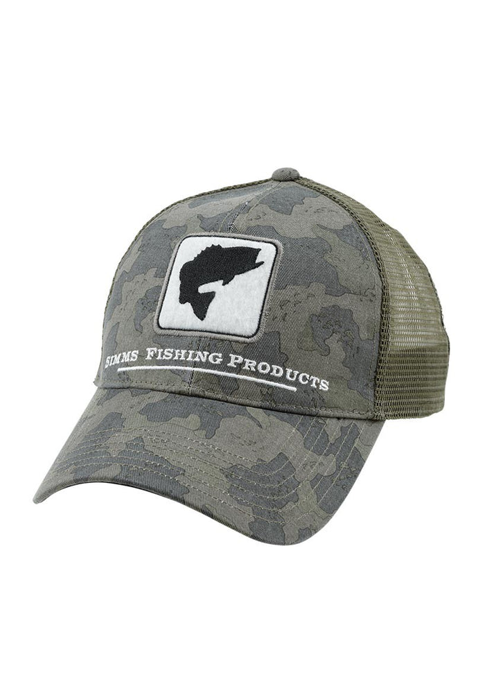 Simms Bass Trucker Hat Camo