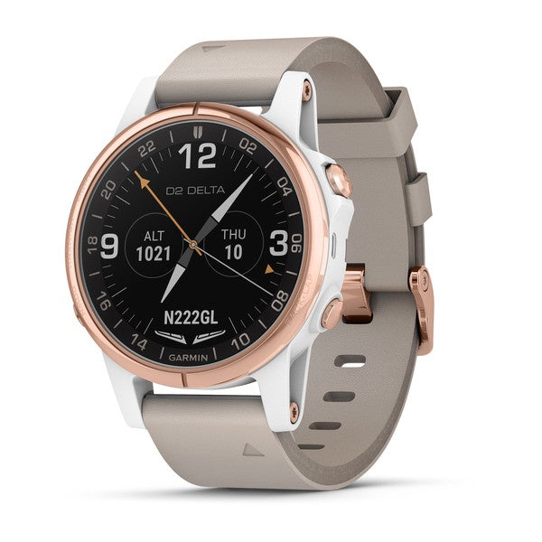 Garmin D2™ Delta S Aviator Watch with Beige Leather Band