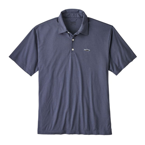 Patagonia Men's Polo - Trout Fitz Roy - Dolomite Blue