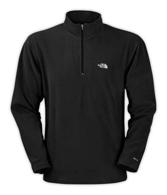 The North Face Men's TKA  100 Glacier 1/4 Zip - Black